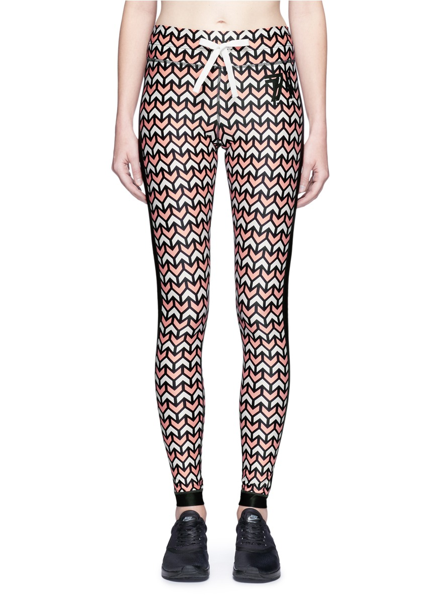 Geo Yoga geometric print performance leggings by The Upside