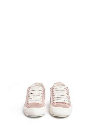 Front View - Click To Enlarge - Pedro García - 'Parson' satin sneakers