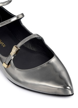 Detail View - Click To Enlarge - Stuart Weitzman - 'Flippy' mirror leather Mary Jane flats