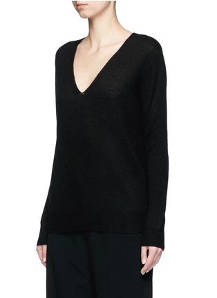 正面 -点击放大 - THEORY - ADRIANNA RL V领羊绒针织衫