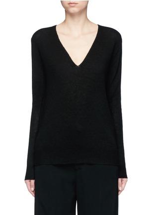 首图 - 点击放大 - THEORY - ADRIANNA RL V领羊绒针织衫