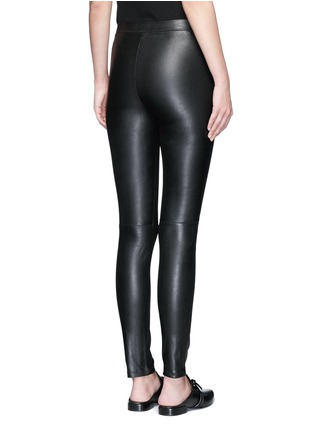 Back View - Click To Enlarge - Theory - 'Adbelle' lamb leather leggings