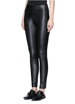 Front View - Click To Enlarge - Theory - 'Adbelle' lamb leather leggings