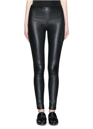 Main View - Click To Enlarge - Theory - 'Adbelle' lamb leather leggings