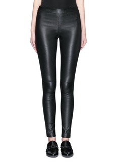 Theory 'Adbelle' lamb leather leggings