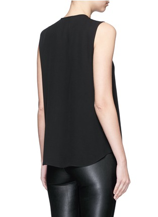 Back View - Click To Enlarge - Theory - 'Bahliee' satin bib sleeveless silk top