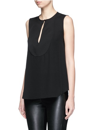 Front View - Click To Enlarge - Theory - 'Bahliee' satin bib sleeveless silk top
