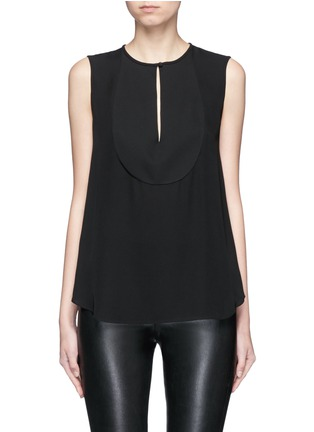Main View - Click To Enlarge - Theory - 'Bahliee' satin bib sleeveless silk top