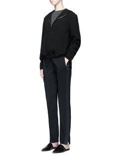 Theory 'Viewpine' pintuck front crepe pants