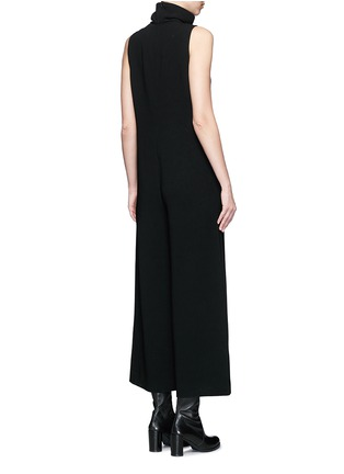 Back View - Click To Enlarge - Theory - 'Dalonelle' turtleneck crepe wide leg jumpsuit