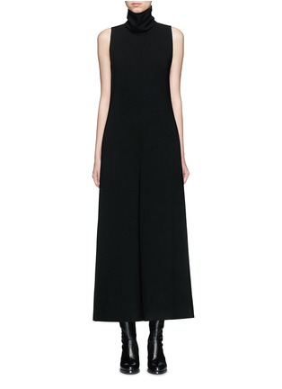 Main View - Click To Enlarge - Theory - 'Dalonelle' turtleneck crepe wide leg jumpsuit