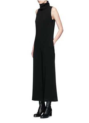 Figure View - Click To Enlarge - Theory - 'Dalonelle' turtleneck crepe wide leg jumpsuit