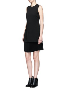 Theory 'Malkan' pleat layer crepe dress
