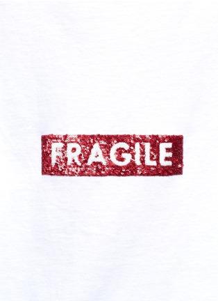 Detail View - Click To Enlarge - Tu Es Mon Trésor - 'Fragile' sequin slogan T-shirt
