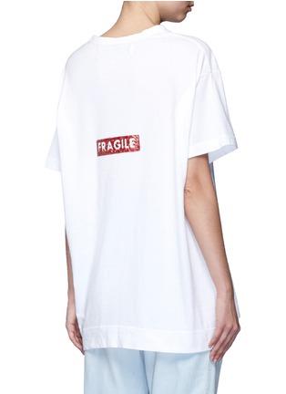 Back View - Click To Enlarge - Tu Es Mon Trésor - 'Fragile' sequin slogan T-shirt