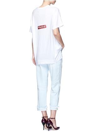 Figure View - Click To Enlarge - Tu Es Mon Trésor - 'Fragile' sequin slogan T-shirt