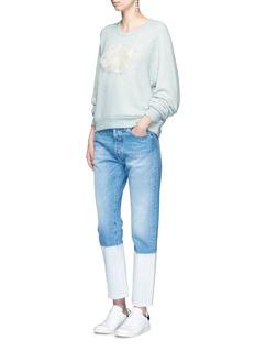 Tu Es Mon TrésorRabbit appliqué marled cotton sweatshirt