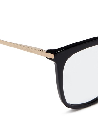Detail View - Click To Enlarge - Dolce & Gabbana - Metal temple acetate optical glasses