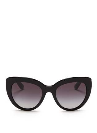 Main View - Click To Enlarge - Dolce & Gabbana - Logo plaque acetate cat eye sunglasses