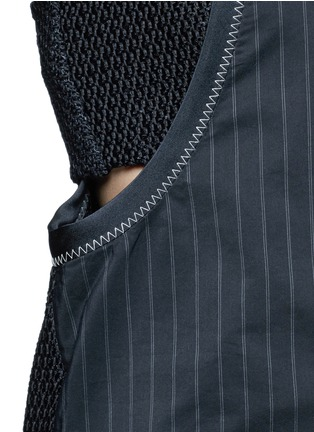 Detail View - Click To Enlarge - 3.1 Phillip Lim - Knotted knit back pinstripe tank top
