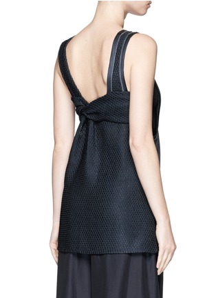 Back View - Click To Enlarge - 3.1 Phillip Lim - Knotted knit back pinstripe tank top