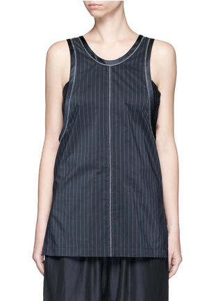 Main View - Click To Enlarge - 3.1 Phillip Lim - Knotted knit back pinstripe tank top