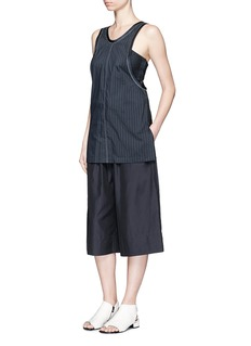 3.1 Phillip LimKnotted knit back pinstripe tank top