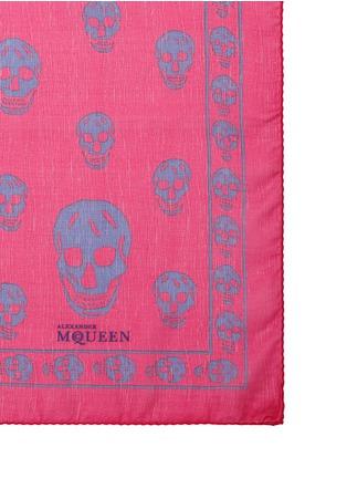 Alexander McQueen-Classic skull print silk scarf