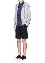 Petersham trim wool seersucker shorts
