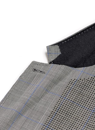 Detail View - Click To Enlarge - OAMC - Lasercut panel Glen plaid virgin wool blazer
