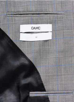 - OAMC - Lasercut panel Glen plaid virgin wool blazer