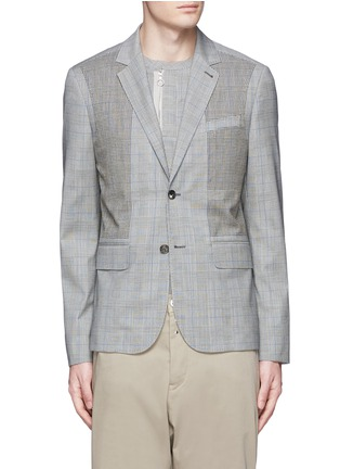Main View - Click To Enlarge - OAMC - Lasercut panel Glen plaid virgin wool blazer