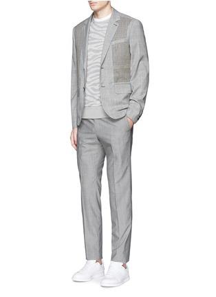 模特儿示范图 - 点击放大 - OAMC - 斑马纹矩形拼贴上衣