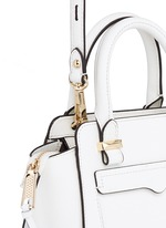 'Avery' micro saffiano leather tote bag