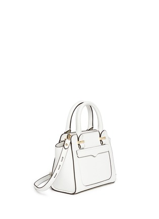 Front View - Click To Enlarge - Rebecca Minkoff - 'Avery' micro saffiano leather tote bag