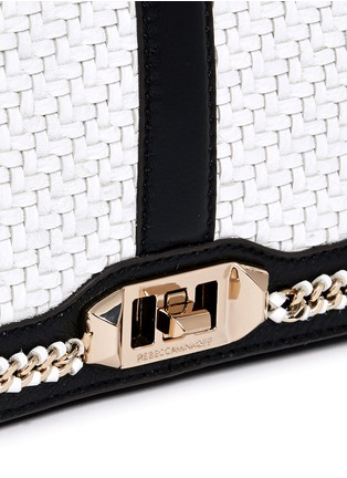 Detail View - Click To Enlarge - Rebecca Minkoff - 'Love' woven flap leather crossbody bag