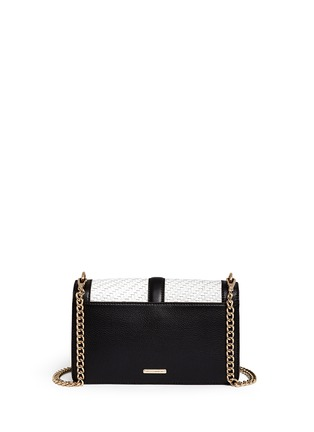 Back View - Click To Enlarge - Rebecca Minkoff - 'Love' woven flap leather crossbody bag