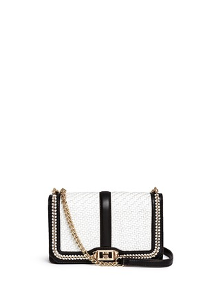 Main View - Click To Enlarge - Rebecca Minkoff - 'Love' woven flap leather crossbody bag