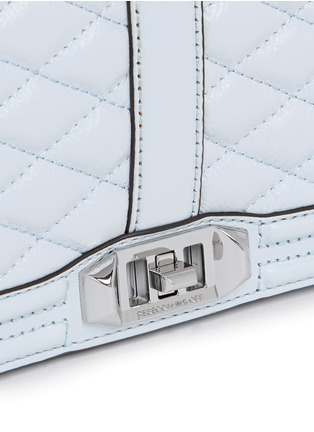 Detail View - Click To Enlarge - Rebecca Minkoff - 'Love' quilted leather crossbody bag