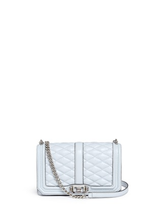 Main View - Click To Enlarge - Rebecca Minkoff - 'Love' quilted leather crossbody bag