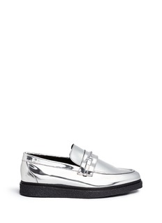 OPENING CEREMONY 'Sloan' mirror leather creeper loafers