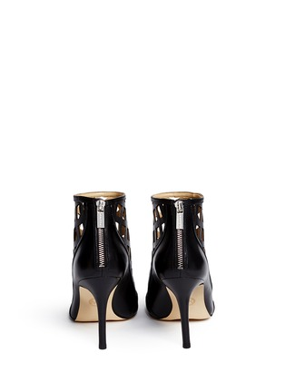 Back View - Click To Enlarge - Michael Kors - 'Yvonne' cutout leather open toe caged booties