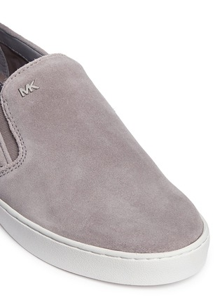 Detail View - Click To Enlarge - Michael Kors - 'Keaton' quilted suede skate slip-ons