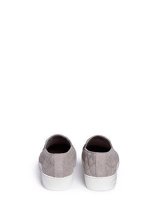Back View - Click To Enlarge - Michael Kors - 'Keaton' quilted suede skate slip-ons