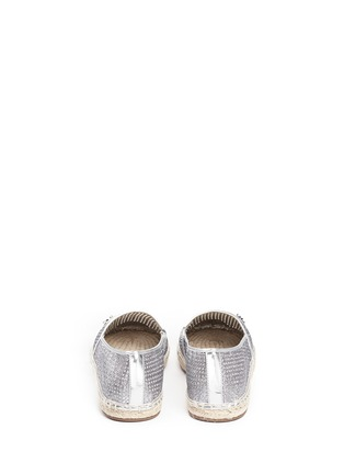 背面 - 点击放大 - MICHAEL KORS - KENDRICK漆皮拼贴闪粉麻编便鞋