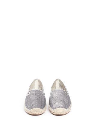 正面 -点击放大 - MICHAEL KORS - KENDRICK漆皮拼贴闪粉麻编便鞋