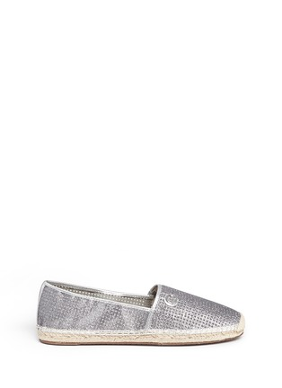 Main View - Click To Enlarge - Michael Kors - 'Kendrick' glitter gridwork espadrilles