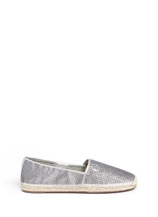 首图 - 点击放大 - MICHAEL KORS - KENDRICK漆皮拼贴闪粉麻编便鞋