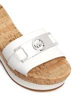 'Warren' leather strap cork wedge sandals