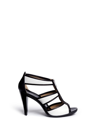Main View - Click To Enlarge - Michael Kors - 'Berkley' caged leather sandals
